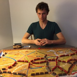 Ticket to Ride...our favorite game.